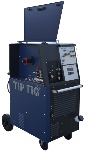 Arc welder with wire feeder for TIG welding, tigspeed, cmt