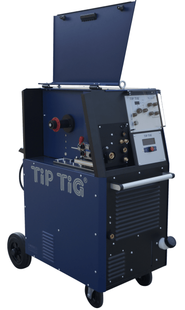GTAW welder with integrated wire feeder for TIG welding